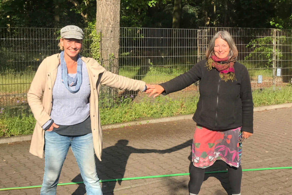 Das Team Gartenfachberatung: Katharina Schütze und Heike Fischer